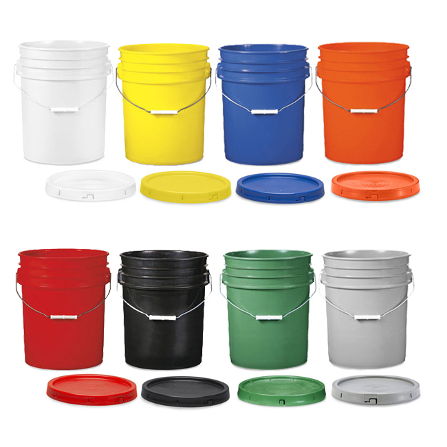White Paper Paint Buckets